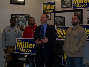 Dan Miller, current Harrisburg City Controller, formally announced his candidacy for mayor.