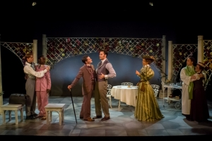 ". The cast of Mauckingbird's ""The Importance of Being Earnest"" (photo by Luis Fernando Rodriguez)"