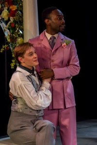 "Mauckingbird's ""The Importance of Being Earnest"" features David Hutchison and James Ijames (photo by Luis Fernando Rodriguez)"